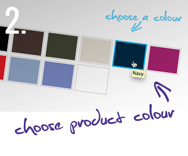 2. Choose product colour