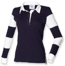 Women's striped sleeve rugby shirt