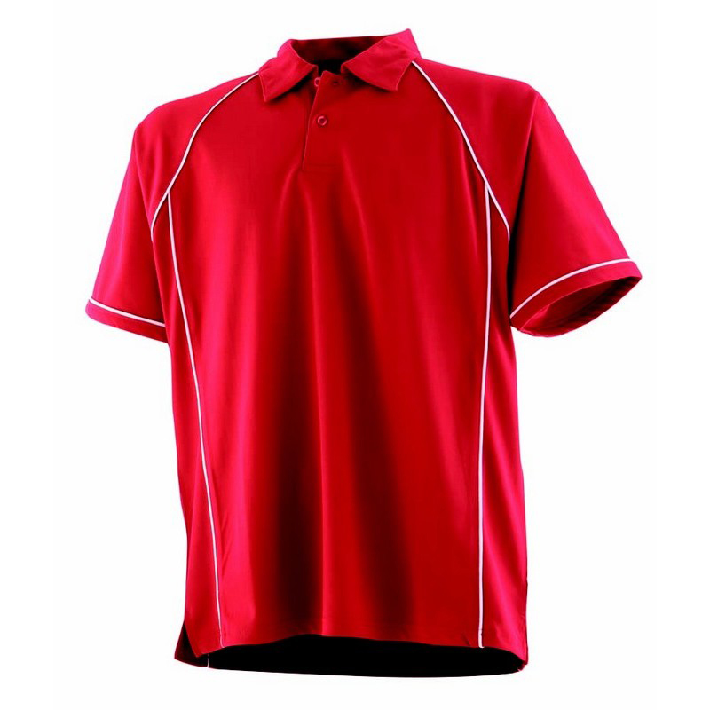 Kids piped performance polo lv372 la clothing solutions for Youth performance polo shirts