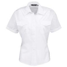 Women's short sleeve pilot blouse