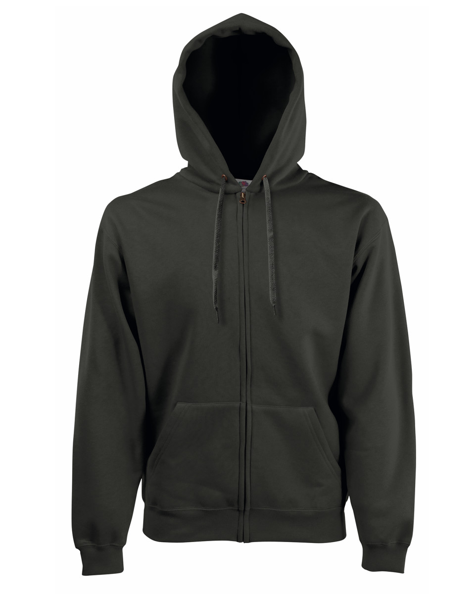 d0cc1dd4c Fruit Of The Loom Hooded Sweat Jacket (62062) - LA Clothing Solutions