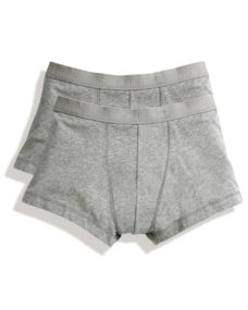 FOTL Mens Classic Shorty (2 Pack)