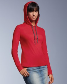 Anvil Ladies L/SL Hooded T-Shirt