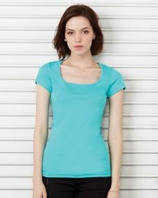 Bella Sheer Rib Scoop Neck T-Shirt