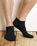 Gildan Platinum No Show Mens Socks (Blk)