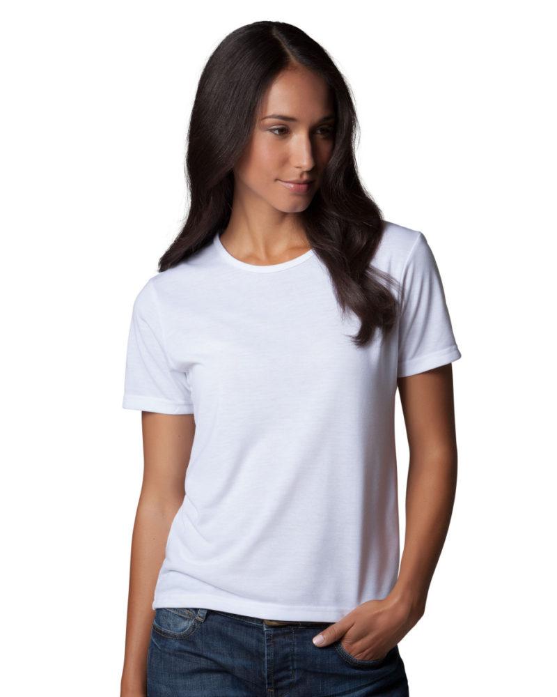 Women's Short Sleeve Subli Plus Round Neck T-Shirt